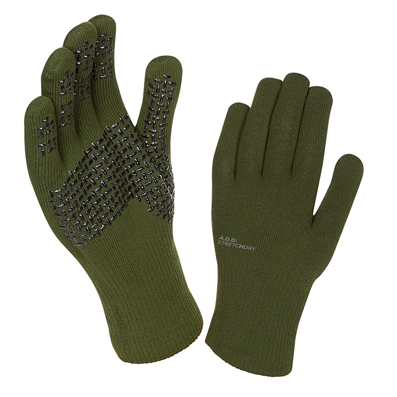 Sealskinz ultra grip glove - Olive green