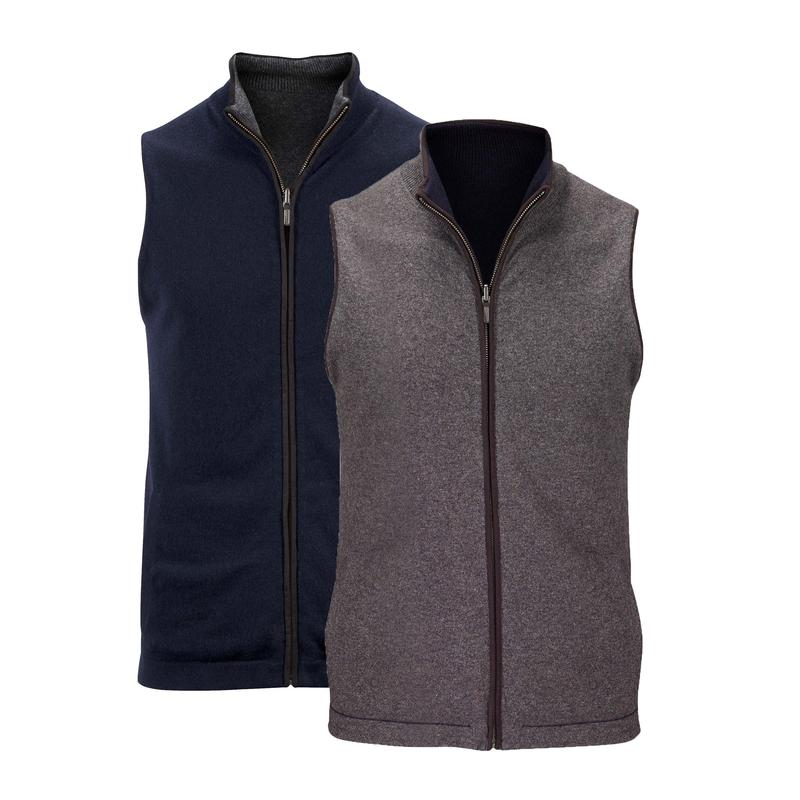 Womens reversible Cashmere gilet