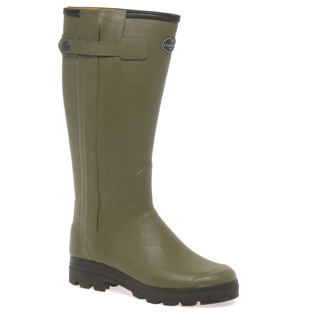 Le Chameau Leather lined Chasseur  wellington boots