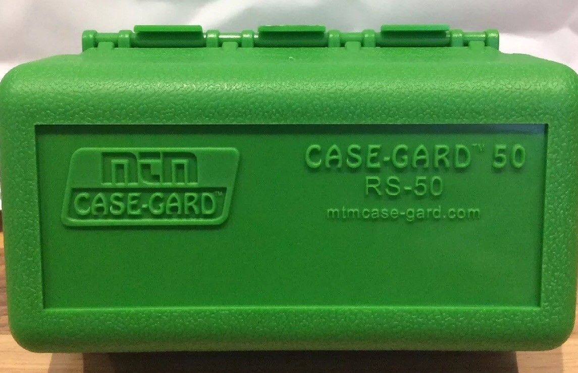 MTM CASE GARD 50 round ammo bullet box - RS50 MADE IN USA
